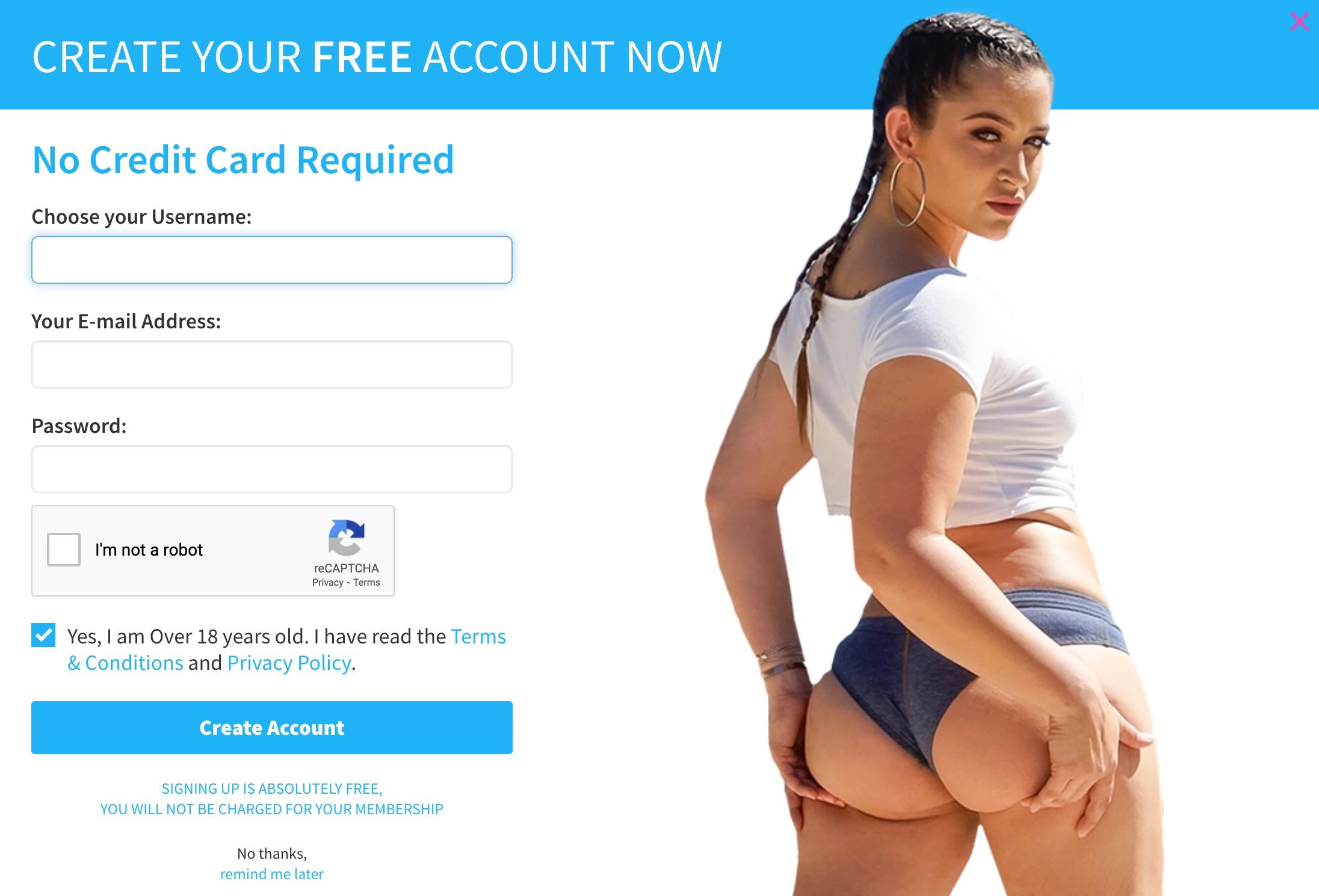 CamSoda create account